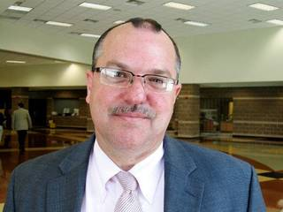 ADMINISTRATOR TRAINING: Brian Staples, principal at Douglass, at Douglass High School in Oklahoma City Monday, Aug. 3, 2009. Photo by Dawn Marks, The Oklahoman. ORG XMIT: KOD
