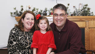 Wendi and Terry Schuur, of Norman, adopted their daughter, Marina, from Russia in 2010. Marina is now 4 1/2 years old. PHOTO PROVIDED