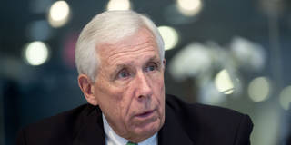 """Representative Frank Wolf, a Republican from Virginia, speaks during an interview in Washington, D.C., U.S., on Tuesday, Feb. 25, 2014. Security concerns are a """"potential real problem"""" for Lenovo Group Ltd.'s plans to buy the U.S.-based low-end server business of International Business Machines Corp., said Wolf. Photographer: Andrew Harrer/Bloomberg via Getty Images"""