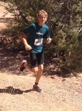 My son, Josh, enjoying a race on a warm day in Arizona. The proactive father (me) is holding the camera.