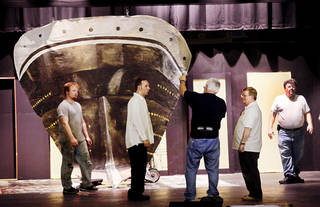 "The Woodward Civic Opera will perform ""Titanic: The Musical"" on Friday and Saturday. The cast has experienced many hardships after the tornado that struck Woodward on April 15, the same date the Titanic sank in 1912. Photo by Jim Beckel, The Oklahoman"