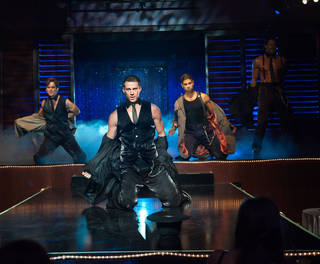 "Channing Tatum, second from left, stars in ""Magic Mike."" Claudette Barius"