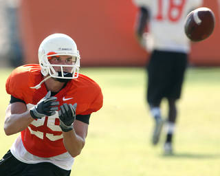 OSU will try to get the ball to Josh Cooper in different situations. Photo by John Clanton, The Oklahoman