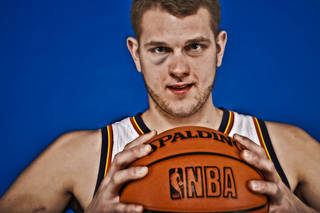 NBA BASKETBALL: Cole Aldrich during the Oklahoma City Thunder media day at the Chesapeake Energy Arena in Oklahoma City, Okla. on Tuesday, Dec. 13, 2011. Photo by Chris Landsberger, The Oklahoman