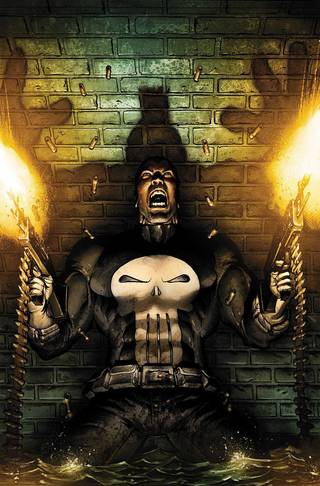 "Art from ""Punisher: Nightmare"" by Mark Texeira. Marvel Comics."
