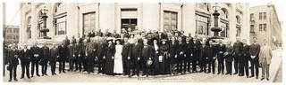Numerous individuals who participated in the 1889 Land Run gathered for this reunion photo in 1913. Photo provided
