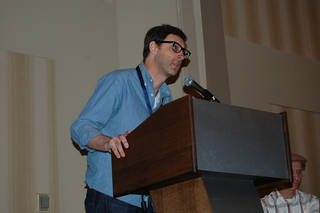 Eric Stephenson speaks at the ComicsPRO annual membership meeting. Photo by Annette Price, for The Oklahoman