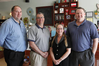 Rob Talbot, Mike Ellenburg, Sidney Hendrickson and Blake Phagan are leaders of the Deer Creek Chamber of Commerce. Photo By David McDaniel/The Oklahoman David McDaniel - The Oklahoman