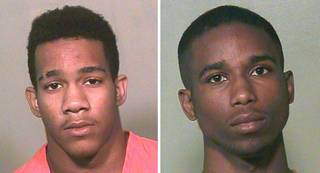 Avery Meyers, 16, and Rodney Dewon Hill, 19, were arrested separately Tuesday on eight complaints each of shooting with intent to kill.