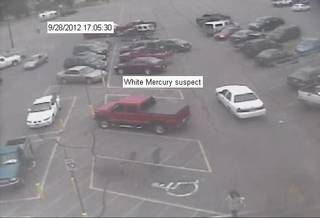 A man robbed a City National Bank Friday afternoon inside a Walmart, 2400 S Country Club Road in El Reno, the FBI reports. He drove away in a 1998 to 2002 white Mercury Marquis. - Photo provided by FBI