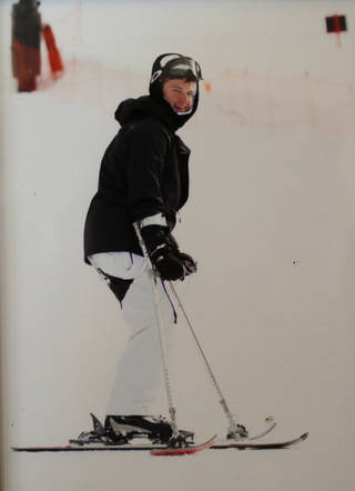 Family photo of Tyler Zander skiing after the accident. Photo provided. PROVIDED - PROVIDED