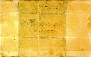 "The Travis ""Victory or Death"" letter. Photo from Texas State Library and Archives Commission web site."