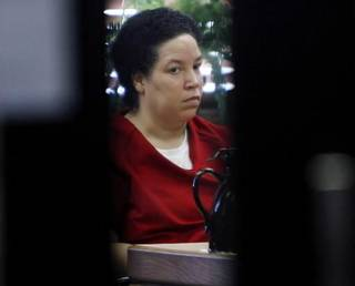 Vicki Chiles appears for her preliminary hearing on murder charges at the Tulsa County Courthouse in Tulsa, Okla. Wednesday, July 18, 2007. (AP Photo/Tulsa World, Stephen Holman)