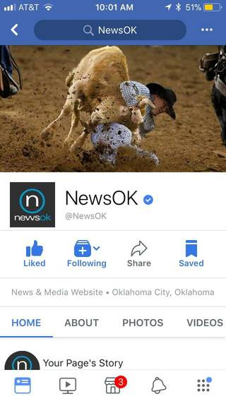 NewsOK Facebook page (mobile)