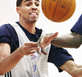 The Thunder's Thabo Sefolosha spent a lot of time with his family during the summer. Photo by Jim Beckel, The Oklahoman