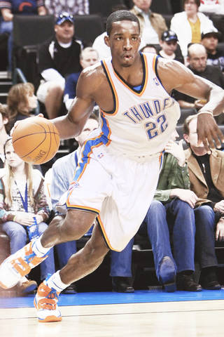 When forward Jeff Green plays well, the Thunder usually wins. PHOTO BY HUGH SCOTT, THE OKLAHOMAN