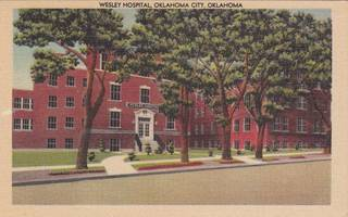 The former Wesley Hospital is shown in this undated post card. Provided