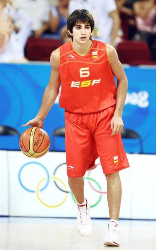 Spain's Ricky Rubio is the top international prospect for next week's NBA Draft. (AP Photo)