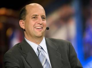 Thursday, June 26, 2008 -- New York, N.Y. -- Analyst Jeff Van Gundy at the 2008 NBA Draft ORG XMIT: 0906042158481688