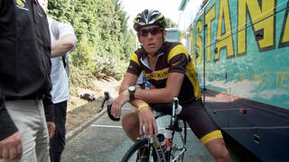 """This photo released by courtesy of Sony Pictures Classics shows Lance Armstrong in the documentary film, Â""""The Armstrong Lie."""" (AP Photo/Courtesy Sony Pictures Classics, Maryse Alberti)"""