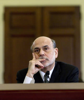 Federal Reserve Chairman Ben Bernanke testifies Thursday on Capitol Hill in Washington, before the House Budget Committee. AP Photo