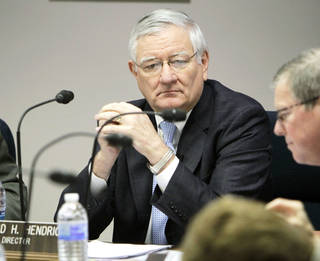 Howard Hendrick announced Tuesday he is retiring as director of the Oklahoma Department of Human Services. He made his announcement at the end of his regular presentation during a monthly meeting of DHS commissioners in Oklahoma City. Photo by PAUL HELLSTERN, The Oklahoman