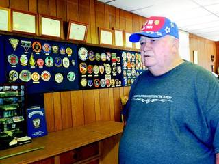 Post Commander Don Campbell discusses how the post needs new members and more active members in Checotah. (Muskogee Phoenix photo)