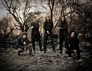 "Korn, left to right: Reginald ""Fieldy"" Arvizu, Ray Luzier, Jonathan Davis, James ""Munky"" Shaffer, Brian ""Head"" Welch. PHOTO PROVIDED"