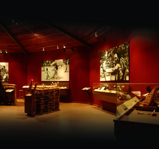 The interior of the Spiro Mounds Archaeological Center is shown. PHOTO PROVIDED
