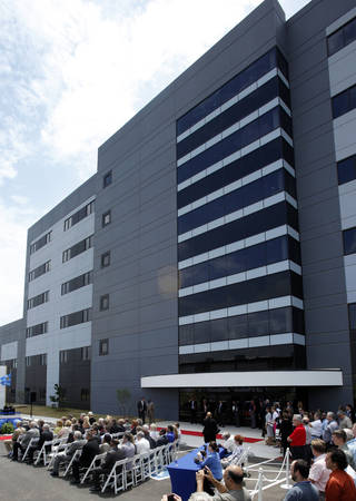 A ceremony is held June 7 for the opening of Boeing's newest office building. Photo by STEVE SISNEY, THE OKLAHOMAN ARCHIVES