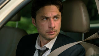 """This image released by Focus Features shows Zach Braff in """"Wish I Was Here."""" (AP Photo/Focus Features, Merie Weismiller Wallace)"""
