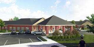 A drawing of the planned rehabilitation center in Norman. DRAWING PROVIDED BY STONEGATE SENIOR LIVING