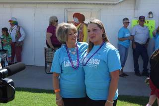 Lahoma Sasse and Lahoma Cope were among the women who attended the July 20 festival to celebrate the city of Lahoma and people who have the same name. PHOTO PROVIDED