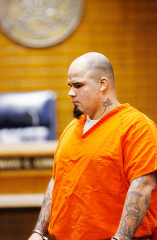 In this Oct. 21, 2009, file photo, murder defendant Joshua Steven Durcho appears before Judge Edward C. Cunningham in a Canadian County Courtroom in El Reno. Photo by Jim Beckel, Oklahoman archive
