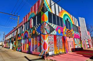 Left: The exterior of The Womb Art Gallery is shown Friday in Oklahoma City. Photo by Chris Landsberger, The Oklahoman