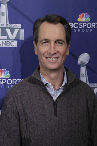 Cris Collinsworth will be NBC's game analyst for Super Bowl XLVI. PHOTO COURTESY NBC