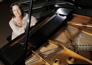 Lori Colbart is a music major at Oklahoma City Community College who will graduate this year. Photo By NATE BILLINGS, The Oklahoman