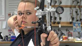 Brogan Williams of Stillwater won the U.S. Team Trials to qualify for the World Archery Indoor Championships.