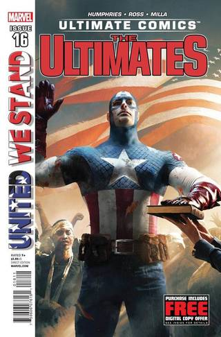 "The cover to ""Ultimate Comics Ultimates"" No. 16. Marvel Comics."