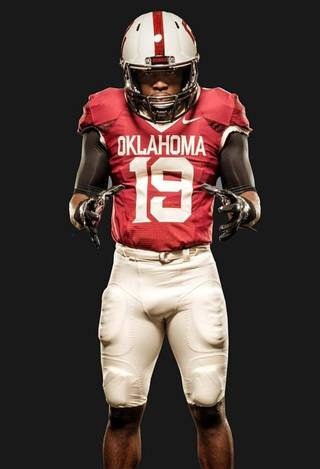 OU's 2014 road alternate uniforms. PHOTO VIA OU SPORTS INFORMATION