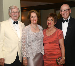 Bud and Marilyn Meade, Brenda and Tom McDaniel. Photo by David Faytinger, for the Oklahoman
