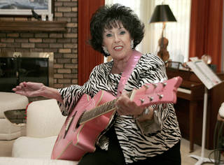 Wanda Jackson is shown earlier this year in her Oklahoma City home. She will perform Saturday at 66 Bowl's 50th anniversary celebration. AP PHOTO