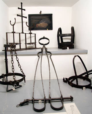 """Diabolical devices of medieval """"persuasion"""" are grim catalogues of human cruelty. (Photo credit: Laura VanDeventer)"""
