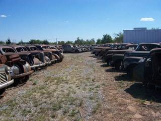 A collection of more than 200 prewar, antique cars sit at 508 E South Gate Road in Enid ready to be auctioned off at 9:30 a.m. Saturday, June 7. - Photo Provided