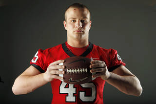 Tulsa Union's Blace Walser poses for a photo in the OPUBCO studio in Oklahoma City for the All-State football section, Monday, Dec. 19, 2011. Photo by Nate Billings, The Oklahoman