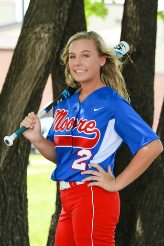 Bailey McKittrick, Moore softball player. Photo courtesy Coggins Photography