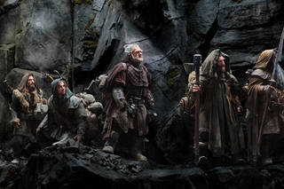 "This film image released by Warner Bros., shows, from left: Dean O'Gorman as Fili; Aidan Turner as Kili; Mark Hadlow as Dori; Jed Brophy as Nori; and William Kircher as Bifur, in a scene from the fantasy adventure ""The Hobbit: An Unexpected Journey."" AP Photo/Warner Bros Uncredited - AP"