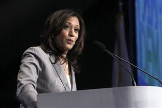 "FILE - This April 13, 2013 file photo shows Attorney General Kamala Harris speaking before delegates to the 2013 Democratic Party state convention in Sacramento, Calif. President Barack Obama introduced California's Kamala Harris at a Democratic fundraiser as brilliant, dedicated, tough and ""by far, the best looking attorney general in the country."" The remark raised a few eyebrows over whether it amounted to sexism. The president, who has similarly complimented men before, called Harris and apologized. A Harris spokesman assured the world she remains an Obama supporter. But the question lingers. Male-to-female, female-to-male, peer-to-peer, superior-to-subordinate: Are workplace compliments focused on looks or other personal details like dress ever OK? (AP Photo/Rich Pedroncelli, file)"