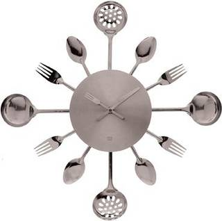 It's fork o'clock somewhere: Go sleek and modern with chrome accessories that instantly liven up functional rooms like the kitchen. Image courtesy of ModCloth.com