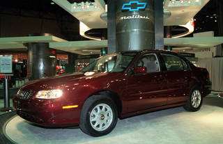 This March 27, 1997, file photo shows the 1998 Chevrolet Malibu at the media preview of the New York International Automobile Show. AP Photo Ed Bailey -